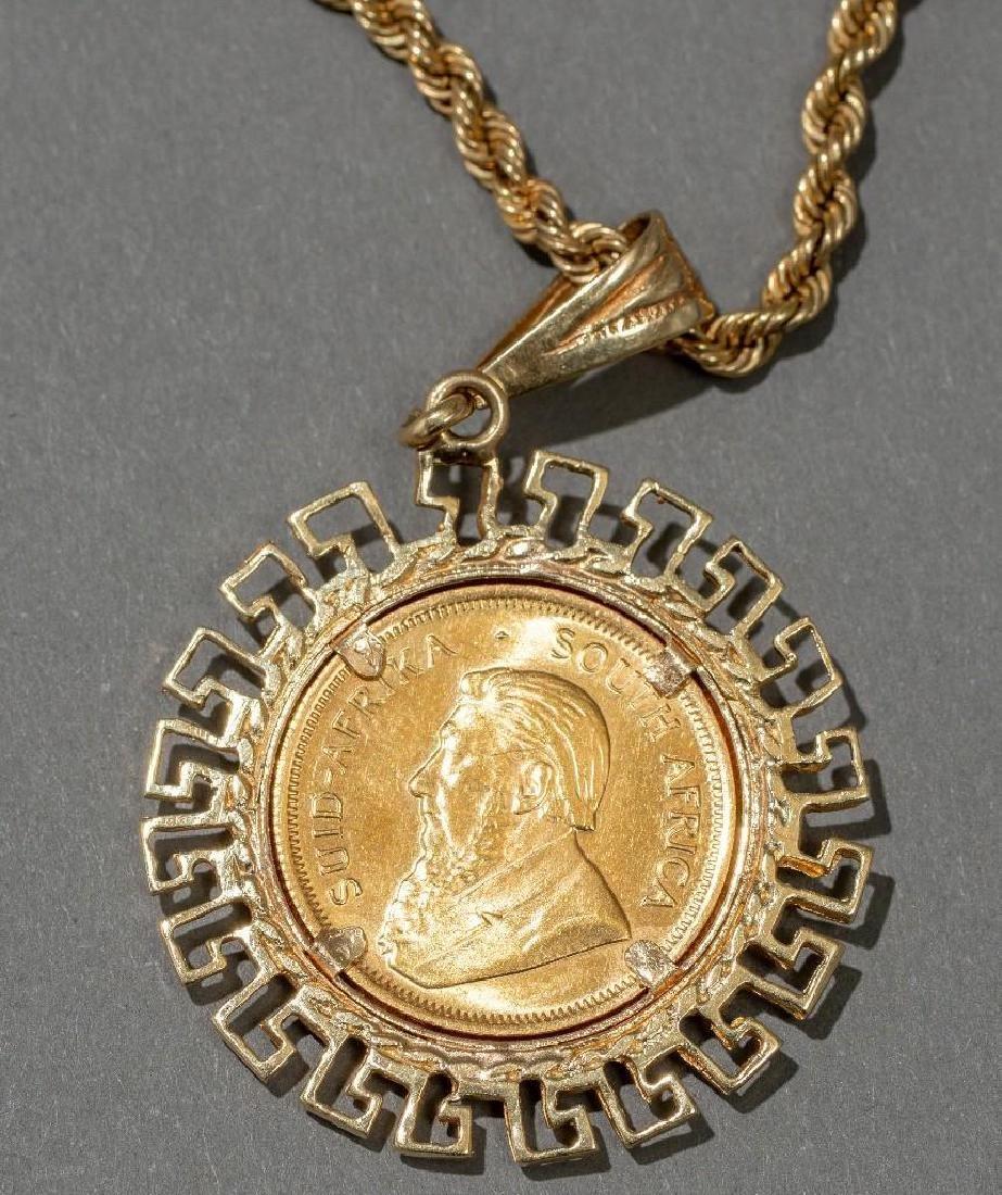 South African Gold Krugerrand Pendant - 2