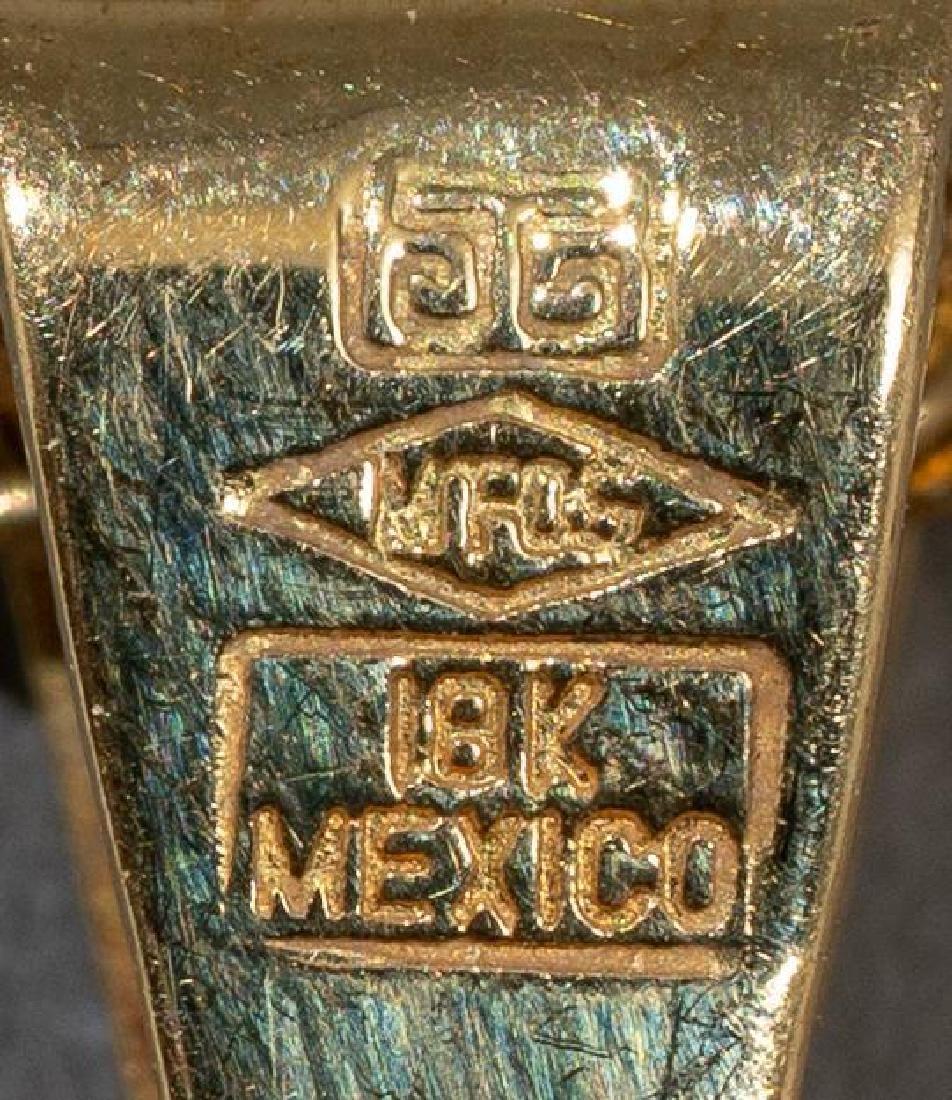 Mexican, Dos Y Medio Pesos Gold Coin Pendant - 4