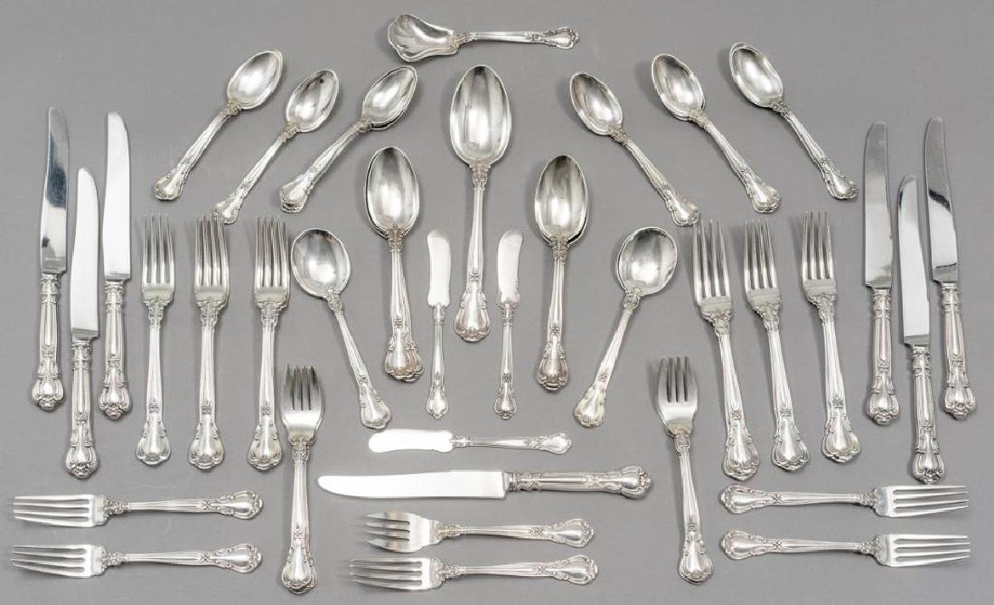 "Gorham, (20th c.), ""Chantilly"" 59-piece Sterling"