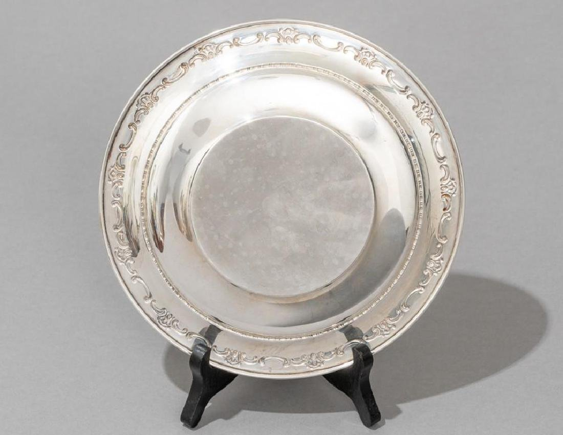 Gorham Sterling Pitcher & Under Plate - 9