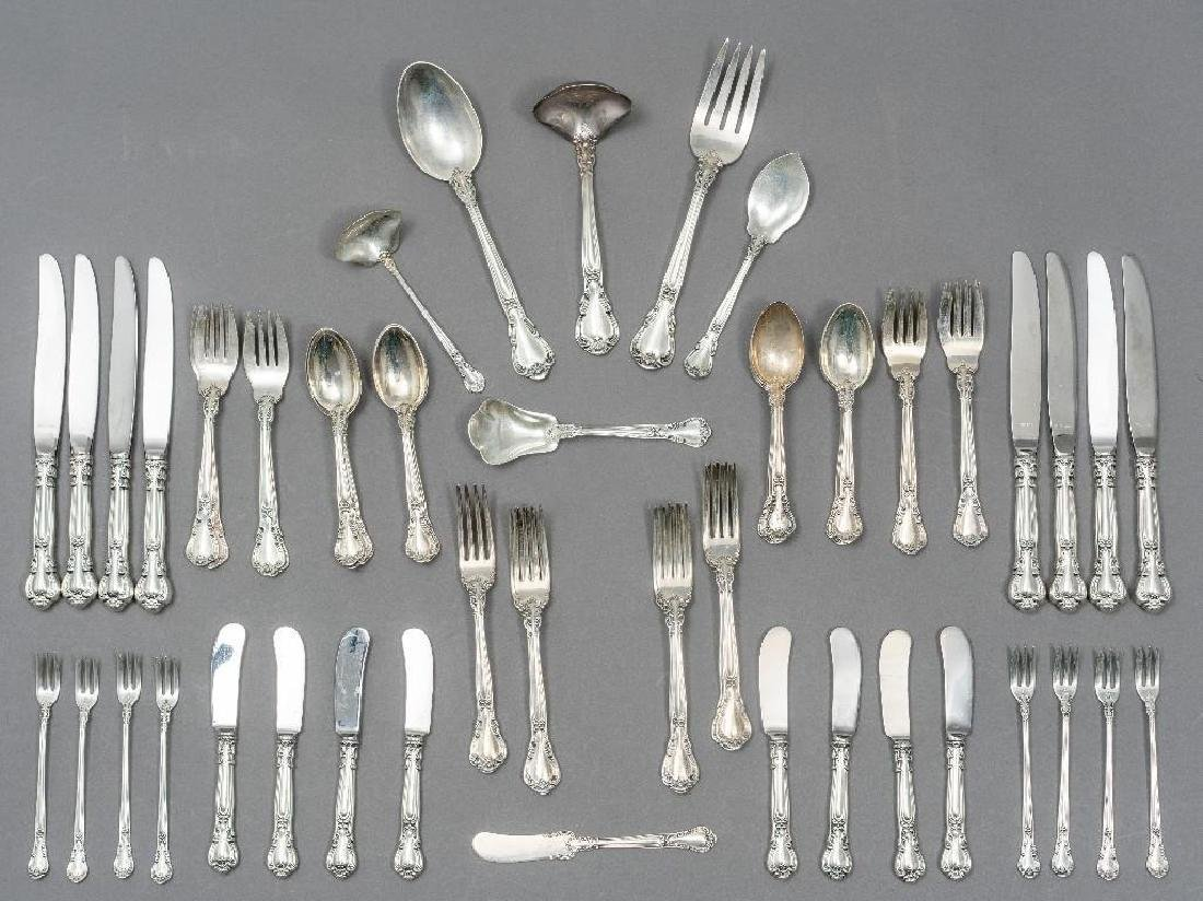 "Gorham, (20th c.), ""Chantilly"" 63-piece Sterling"