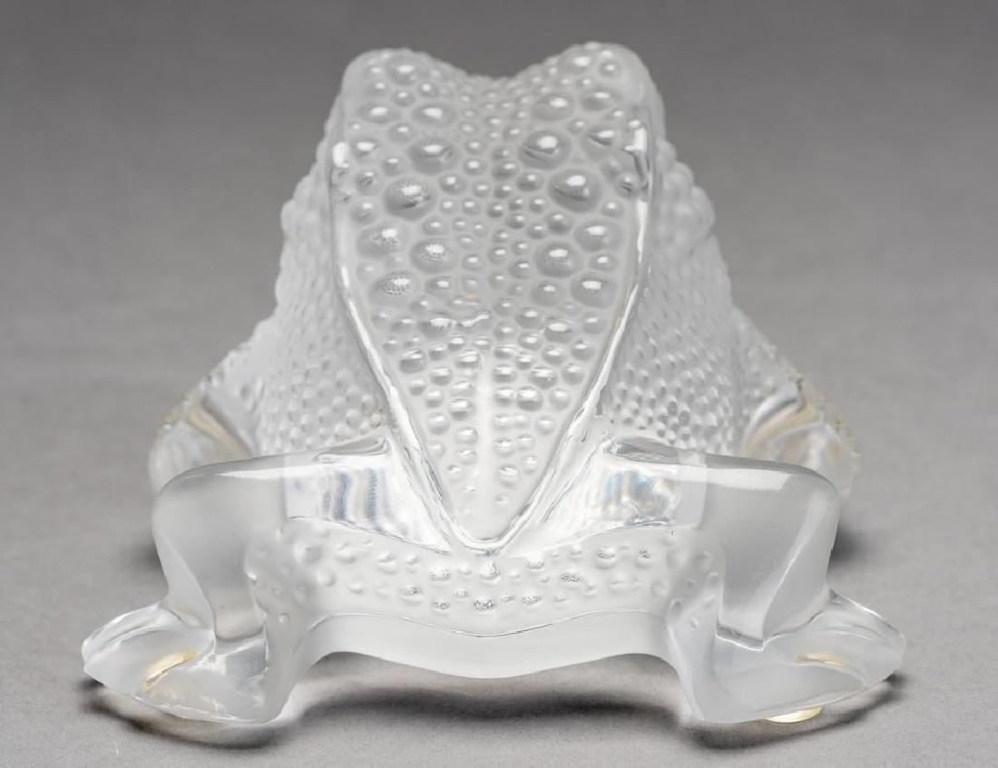 """Lalique, France """"Gregoire"""", Signed Crystal Frog - 5"""
