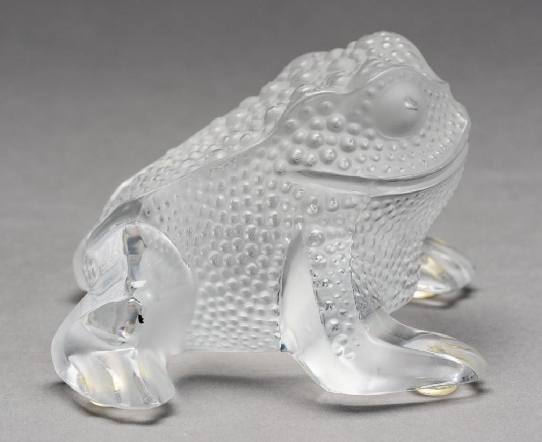 """Lalique, France """"Gregoire"""", Signed Crystal Frog - 6"""