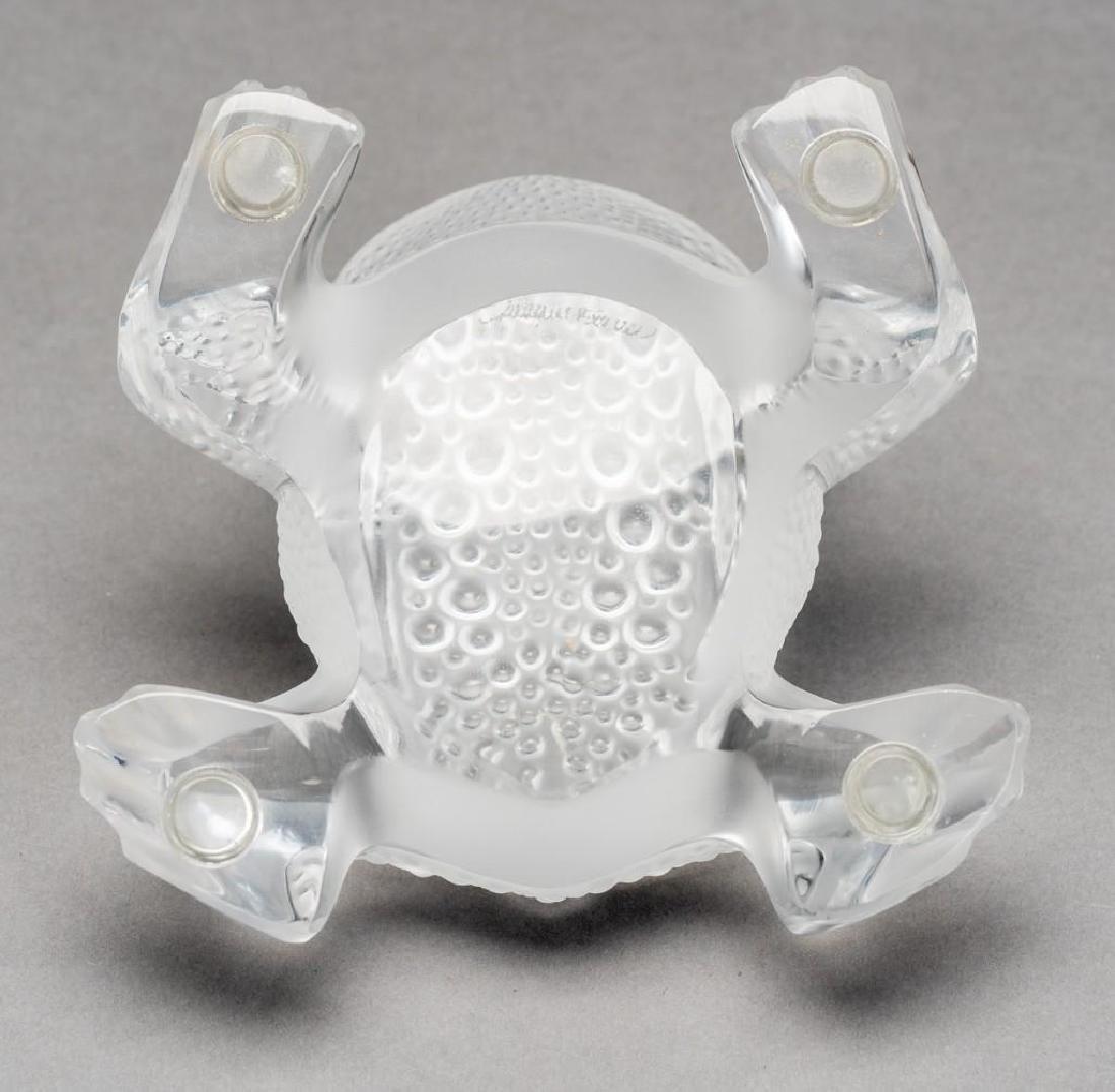 """Lalique, France """"Gregoire"""", Signed Crystal Frog - 8"""