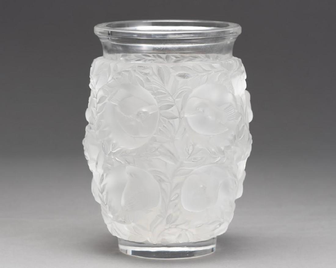 """Lalique, France """"Bagatelle"""", Signed Crystal Vase"""