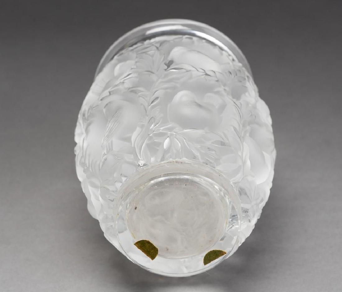 """Lalique, France """"Bagatelle"""", Signed Crystal Vase - 8"""