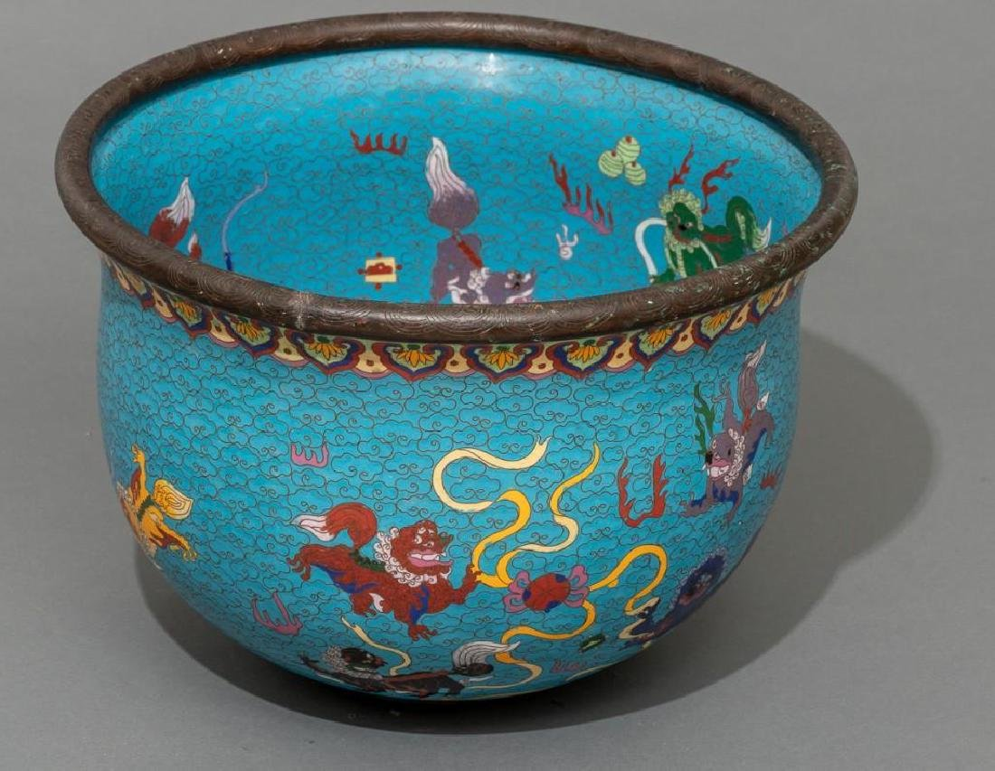 Chinese (ca. 19/20th c.), Pair of Cloisonne Fish Bowls - 2