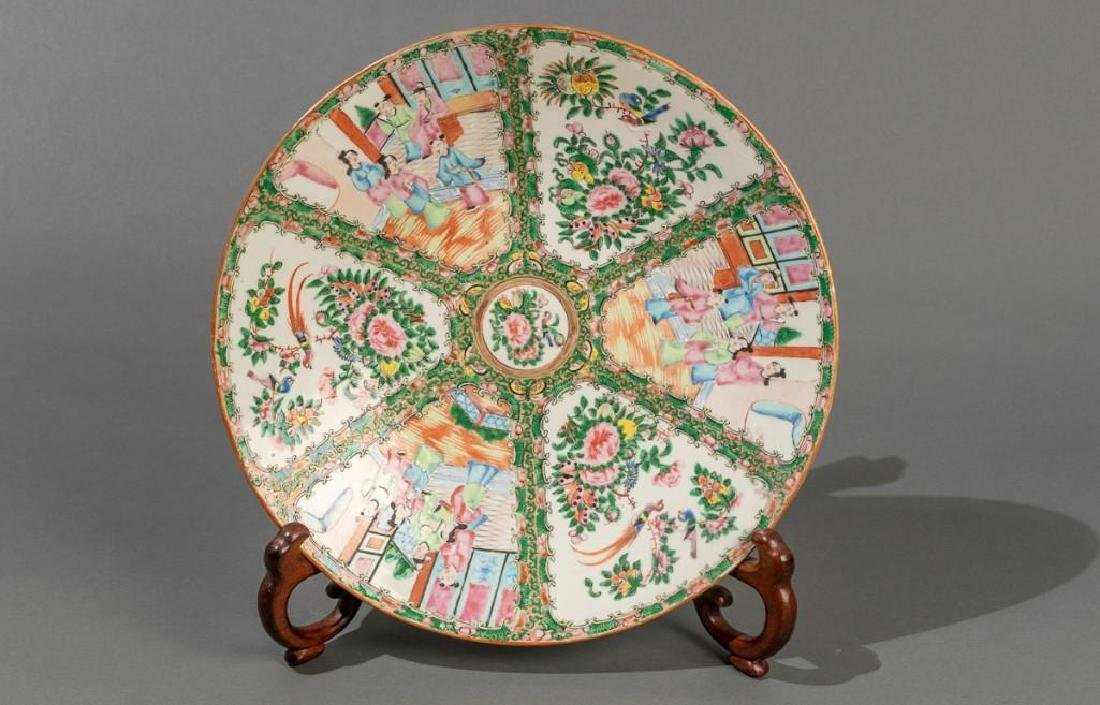 Chinese (ca.18th/19thc.), Rose Medallion Dish