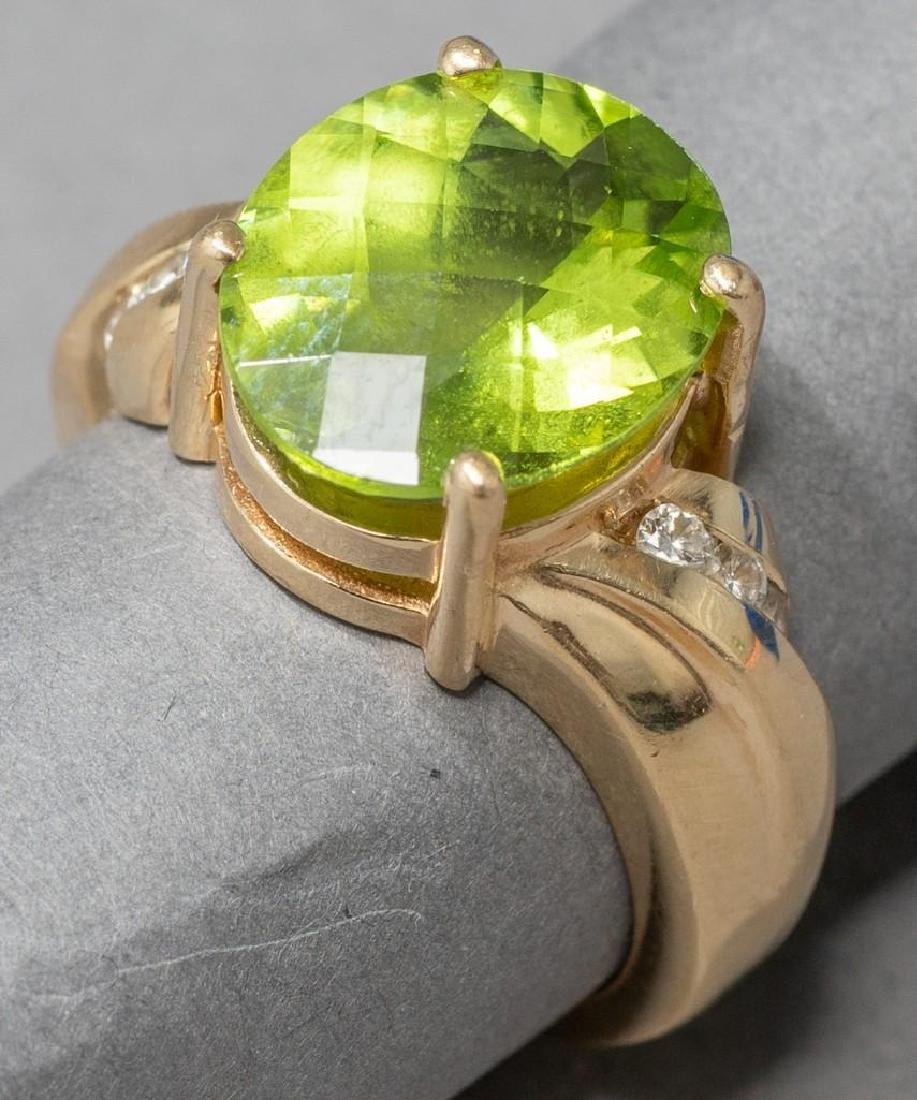 Estate 5 ct. Peridot & Diamond  Ring