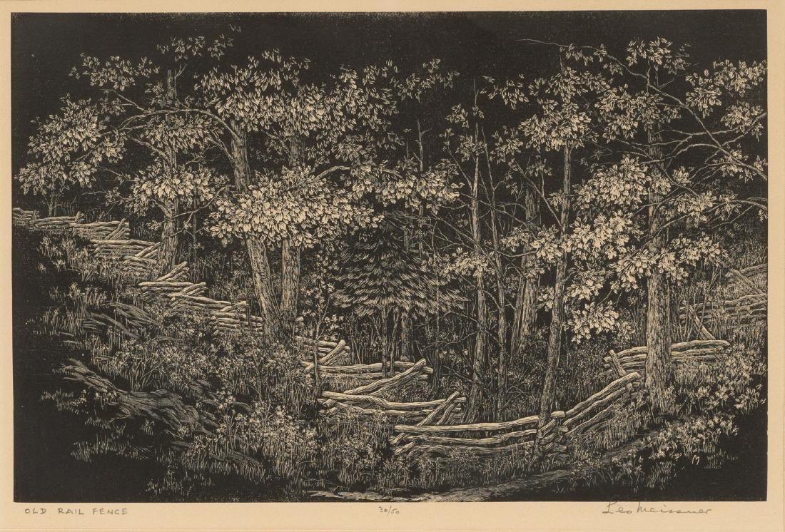 """Leo John Meissner (1895-1977), """"Old Rail Fence"""","""