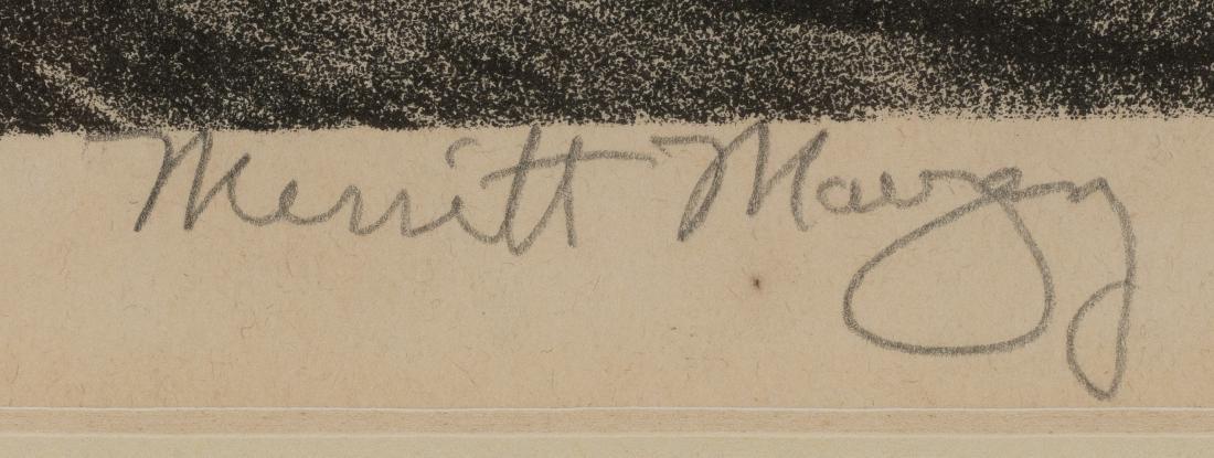 """Merritt Mauzey (1897-1973), """"Rock Pens"""", lithograph, - 3"""