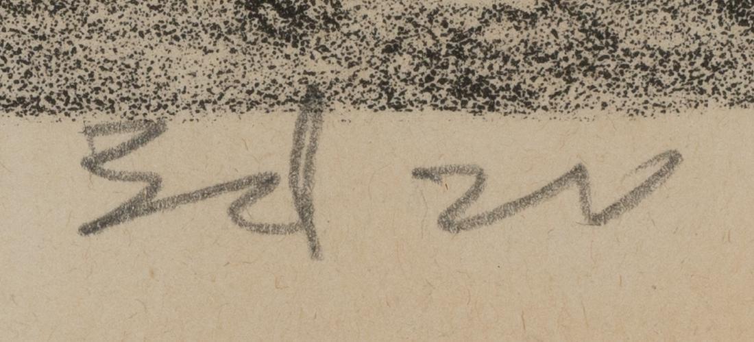 """Merritt Mauzey (1897-1973), """"Rock Pens"""", lithograph, - 4"""