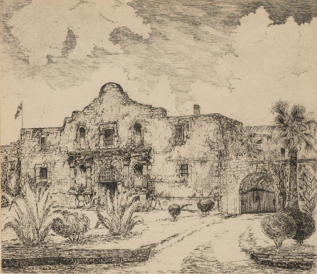 Willie Lucille Reed Rowe (1914-1986), The Alamo, 1949,