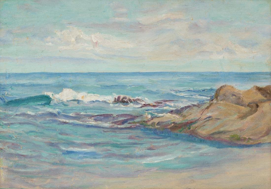 """Seymour Thomas (1868-1956), """"Shore at Monterrey"""", oil"""