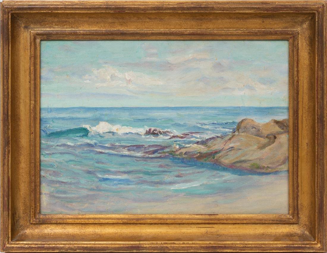 """Seymour Thomas (1868-1956), """"Shore at Monterrey"""", oil - 2"""
