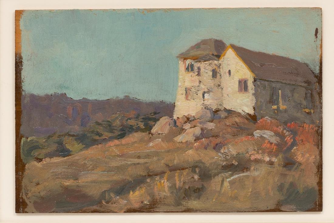 Seymour Thomas (1868-1956), House, oil on board