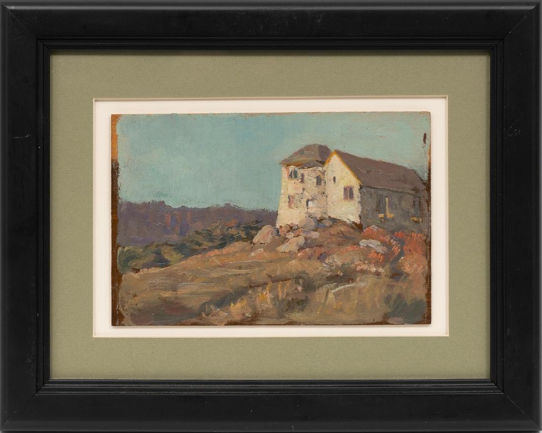 Seymour Thomas (1868-1956), House, oil on board - 2