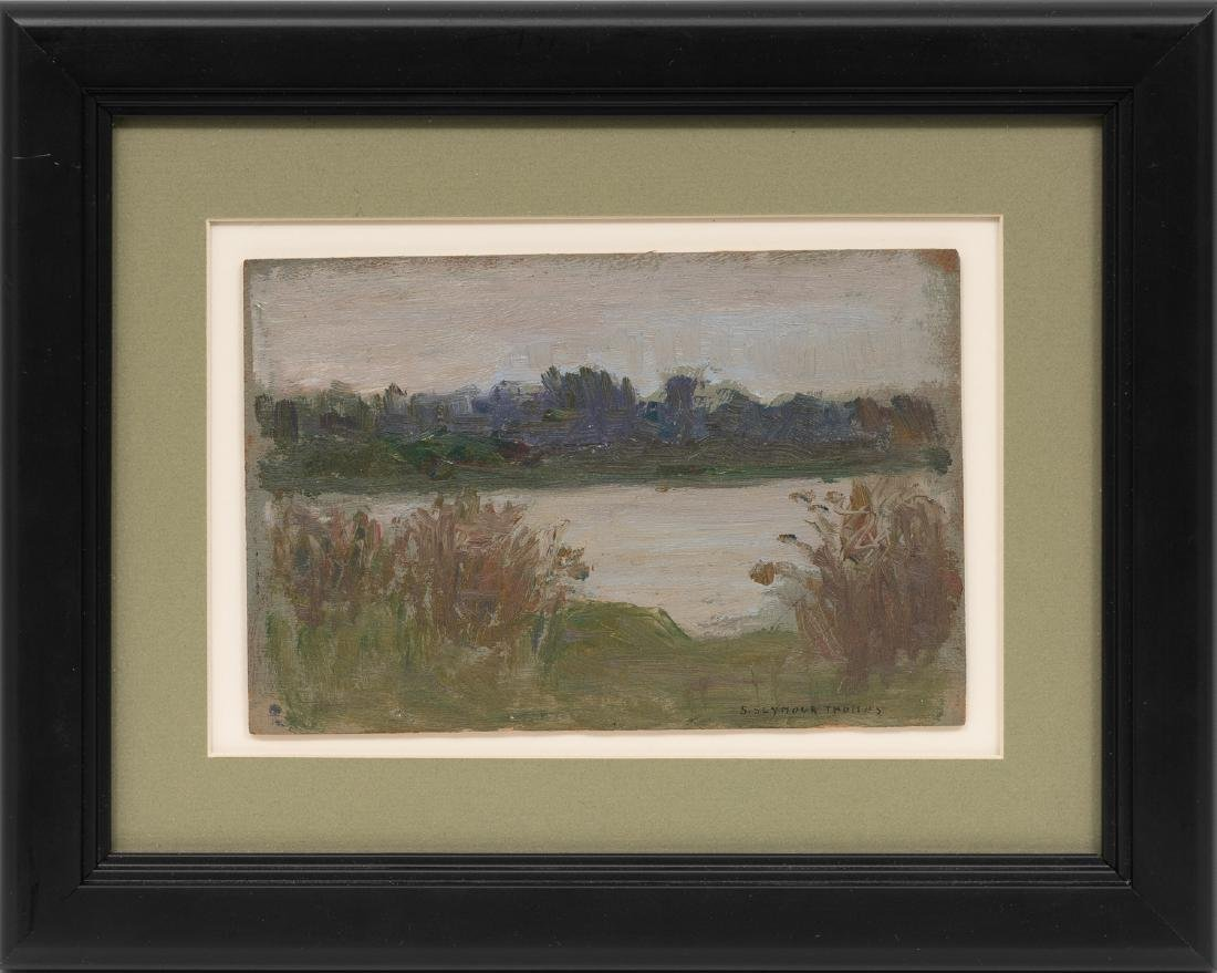 Seymour Thomas (1868-1956), Lake, oil on board, 4.5 x - 2