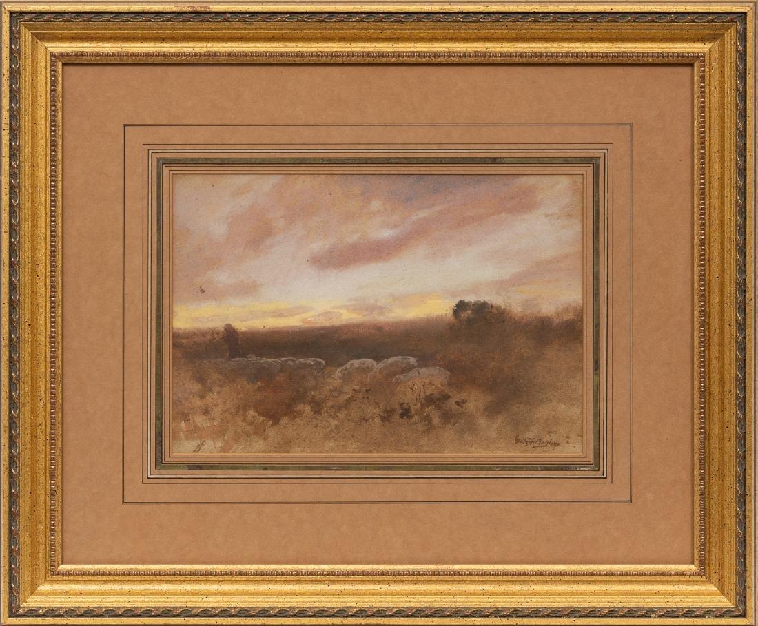Gutzon Borglum (1867-1941), Herding Scene, watercolor, - 2