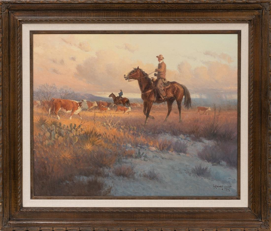 "G. Harvey (1933-2017), ""Counting Calves"", 1971, oil on - 2"