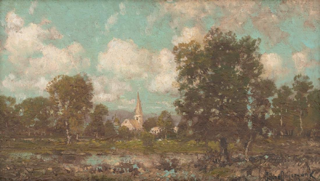 Julian Onderdonk (1882-1922), A Country Church, oil
