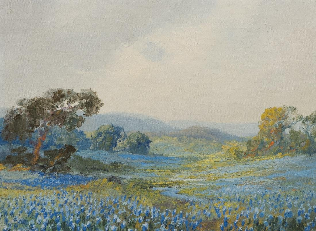 Franz Strahalm (1879-1935), Bluebonnets, oil on canvas