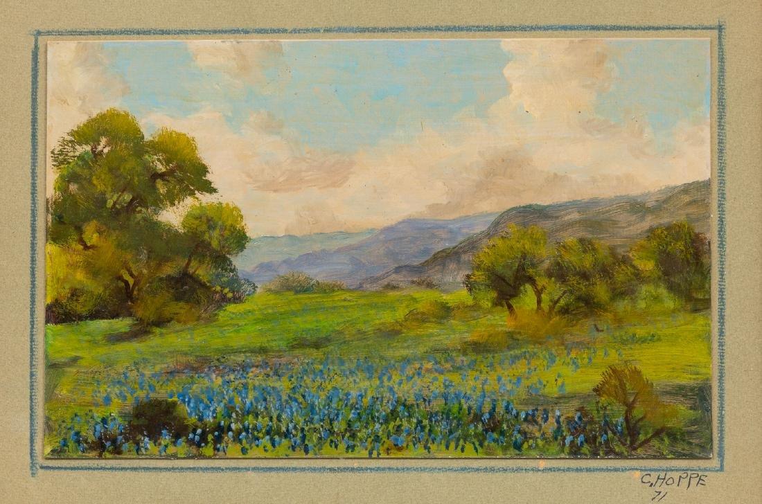 "Carl Hoppe (1897-1981), ""Hills of Bandera, Texas"","