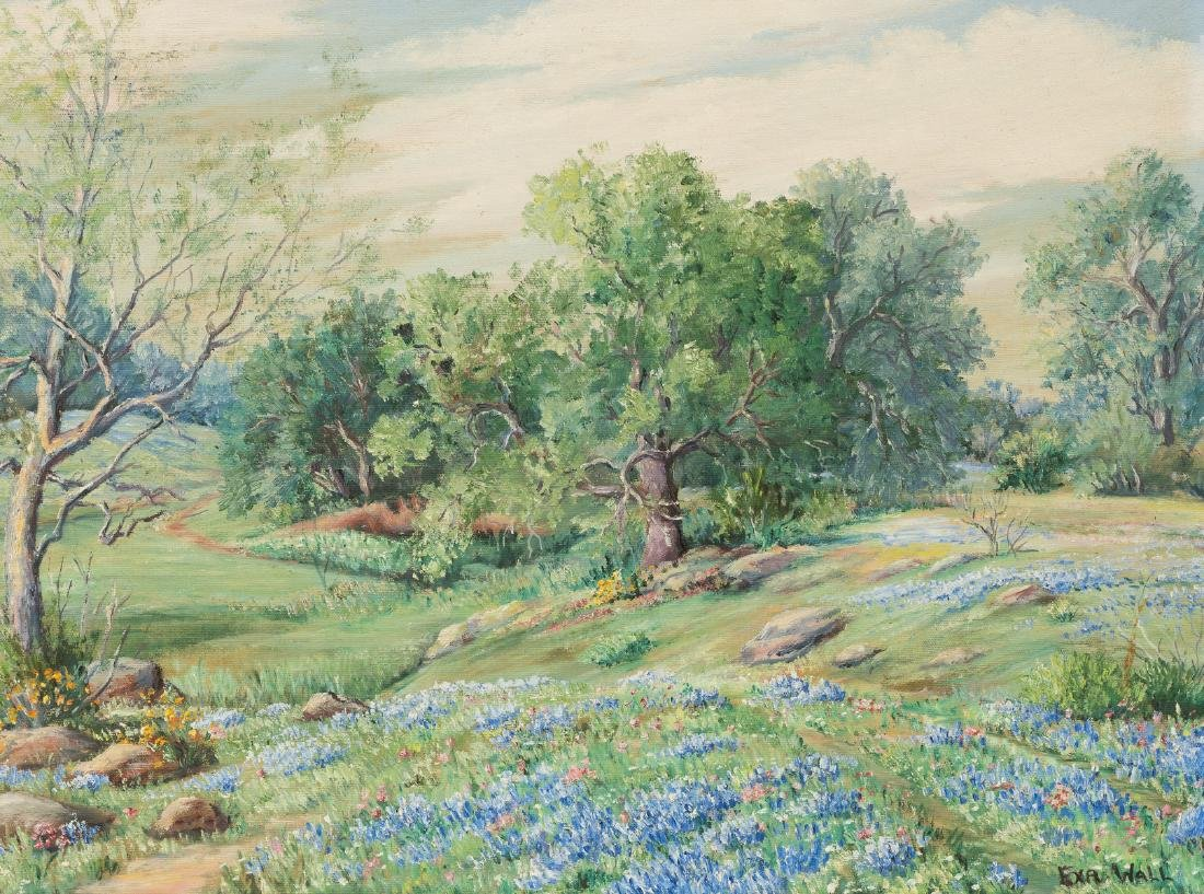 Exa Wall (1897-1972), Bluebonnets, oil on canvas