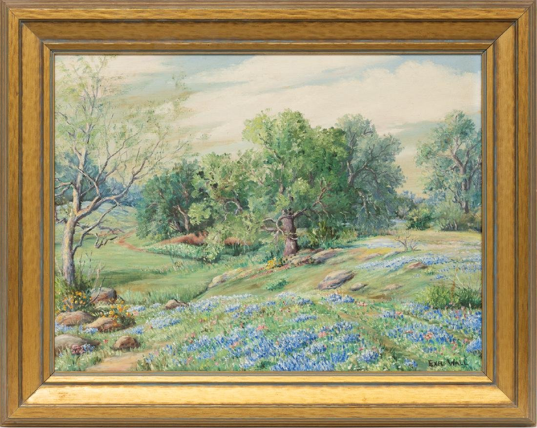 Exa Wall (1897-1972), Bluebonnets, oil on canvas - 2