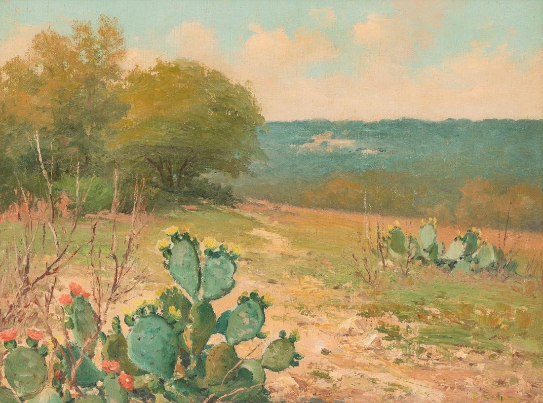Porfirio Salinas (1910-1973), Blooming Cactus, oil