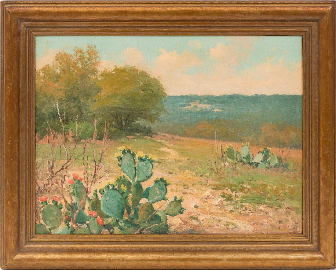 Porfirio Salinas (1910-1973), Blooming Cactus, oil - 2