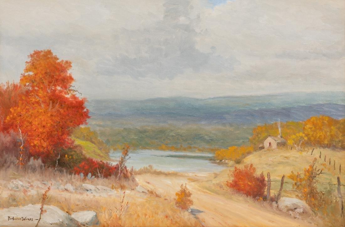 """Porfirio Salinas (1910-1973), """"Autumn"""", oil, 24 x 36"""""""