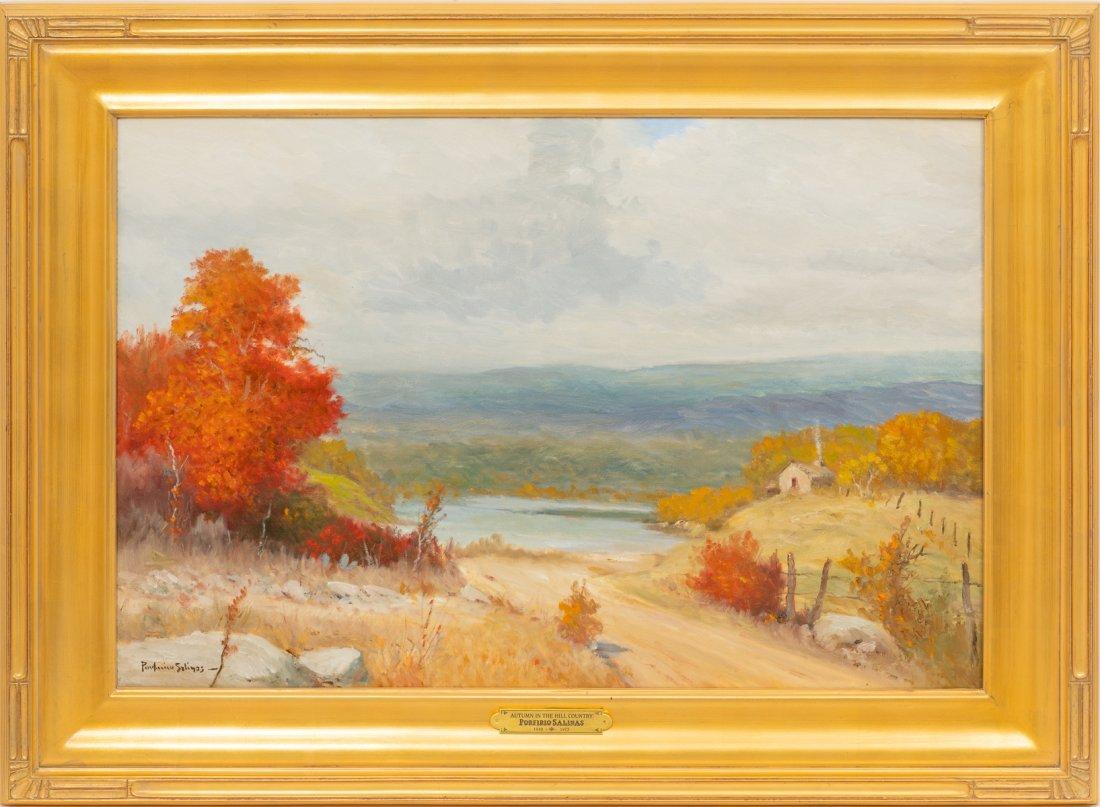 """Porfirio Salinas (1910-1973), """"Autumn"""", oil, 24 x 36"""" - 2"""