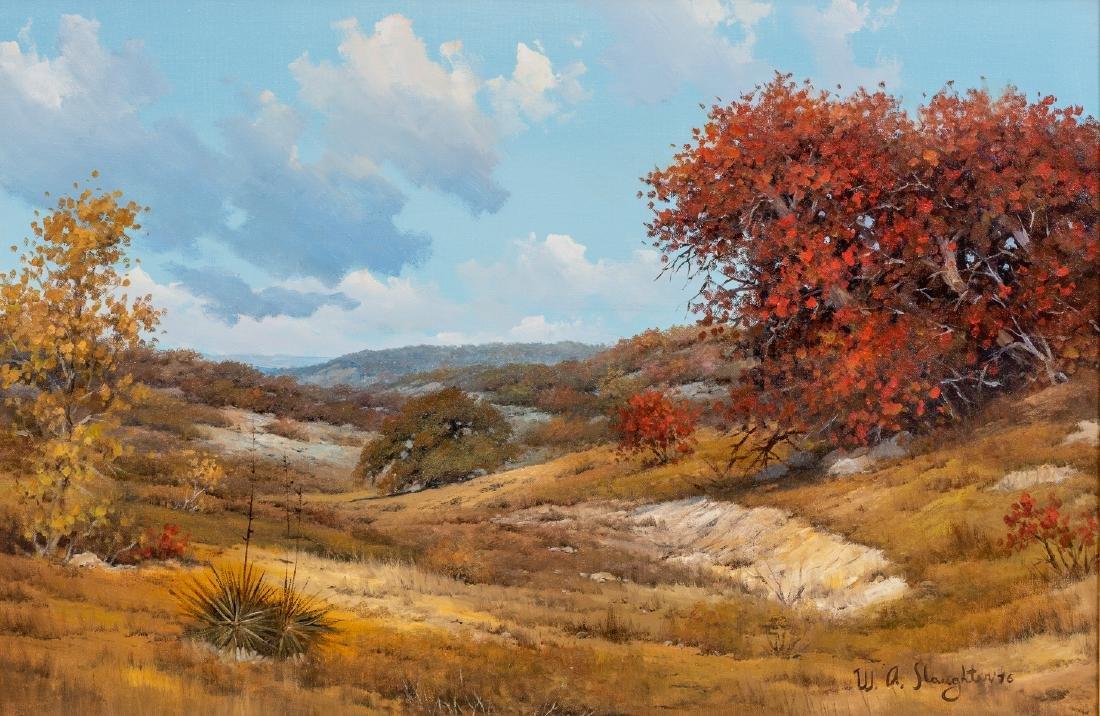 """William Slaughter (1923-2003), Autumn, oil, 24 x 36"""""""