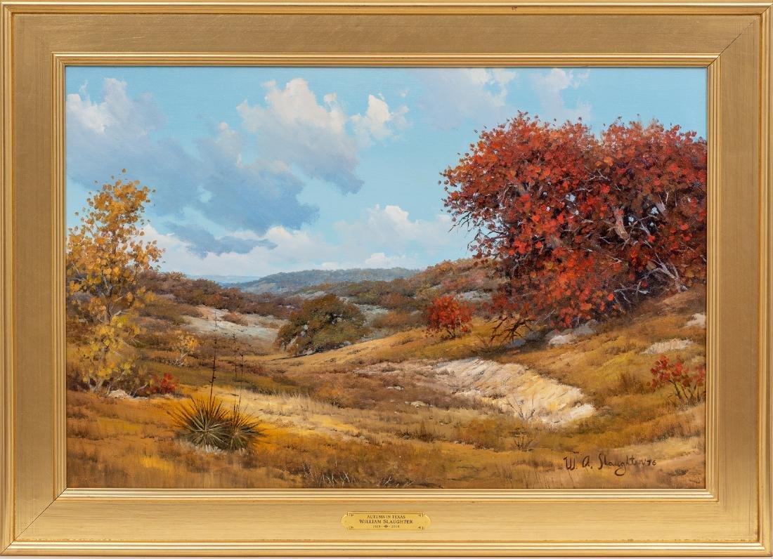 """William Slaughter (1923-2003), Autumn, oil, 24 x 36"""" - 2"""