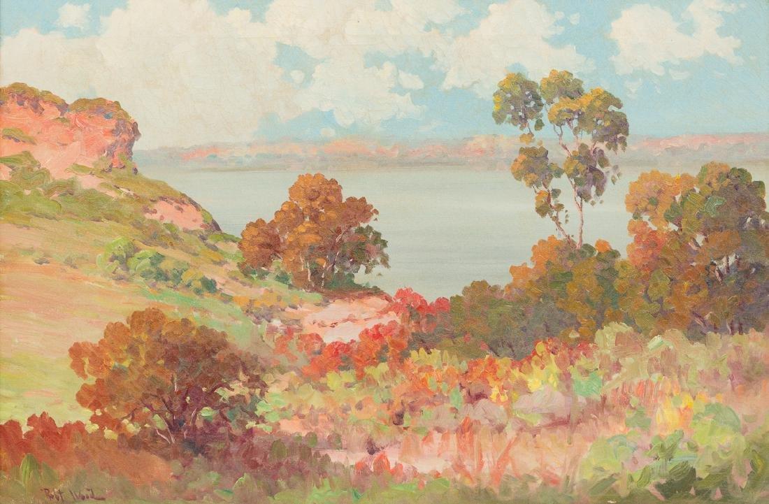 "Robert Wood (1889-1979), ""Lake Medina"", oil on canvas,"