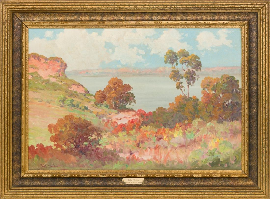 "Robert Wood (1889-1979), ""Lake Medina"", oil on canvas, - 2"