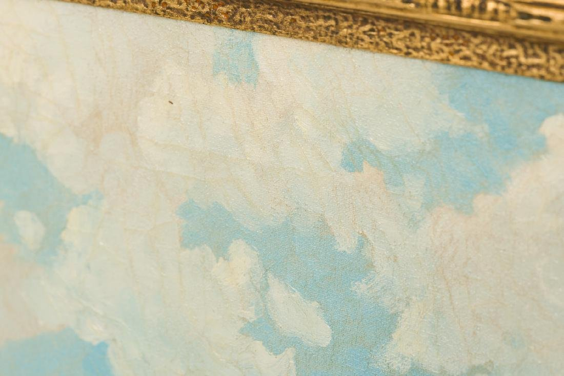 "Robert Wood (1889-1979), ""Lake Medina"", oil on canvas, - 5"