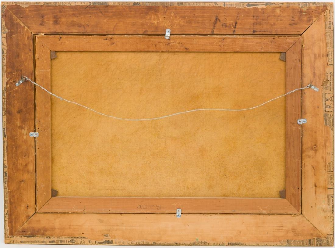 "Robert Wood (1889-1979), ""Lake Medina"", oil on canvas, - 7"