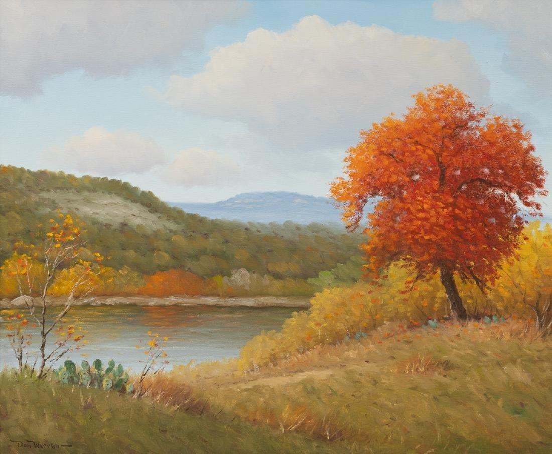 """Don Warren (1935-2006), Autumn, oil on canvas, 20 x 24"""""""