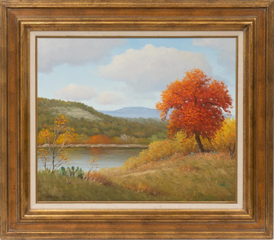 """Don Warren (1935-2006), Autumn, oil on canvas, 20 x 24"""" - 2"""