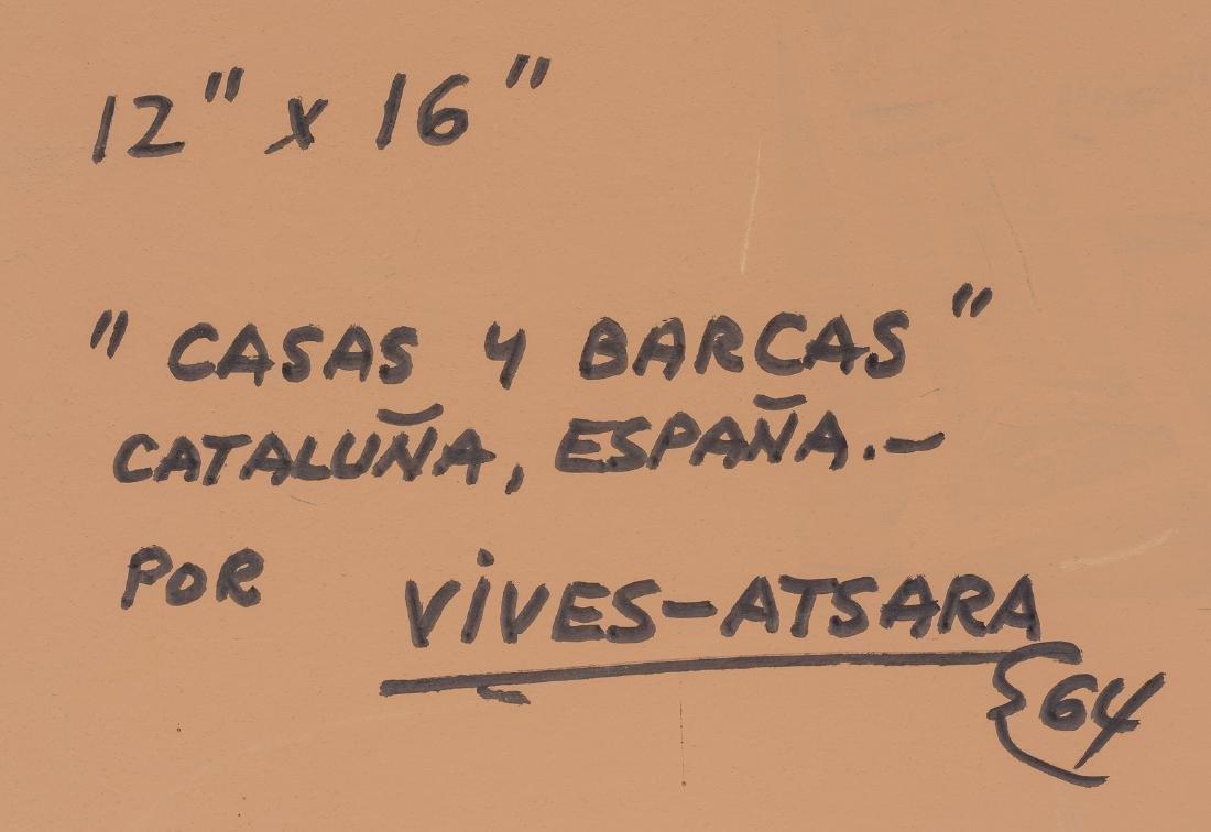 """Jose Vives-Atsara (1919-2004), """"Casas y Barcas"""" 1964 - 6"""