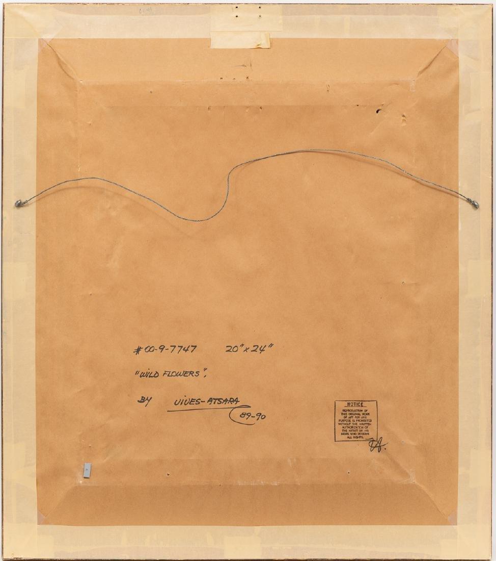 """Jose Vives-Atsara (1919-2004), """"Wild Flowers"""", 1989/90, - 4"""