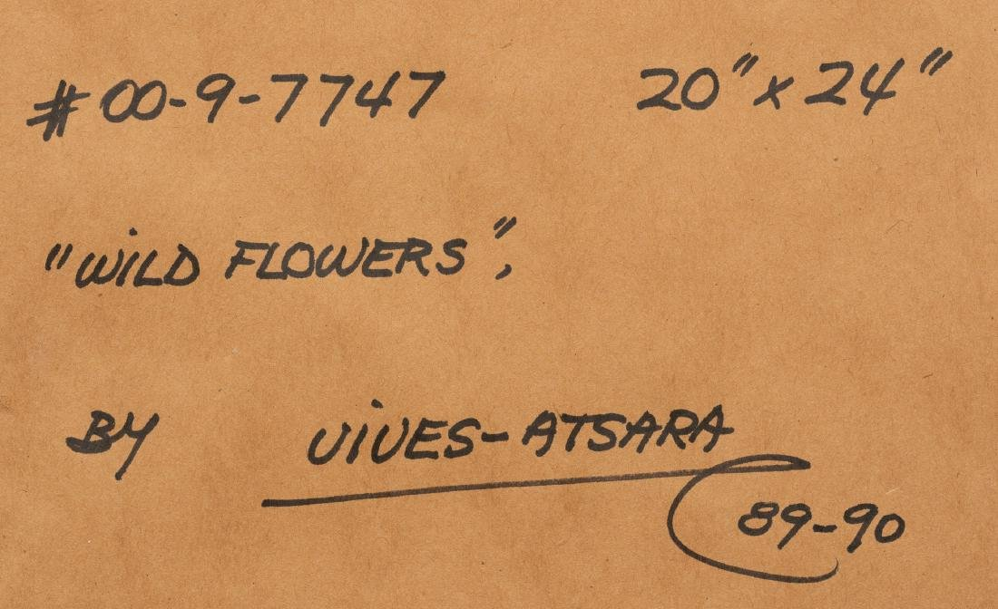 """Jose Vives-Atsara (1919-2004), """"Wild Flowers"""", 1989/90, - 6"""