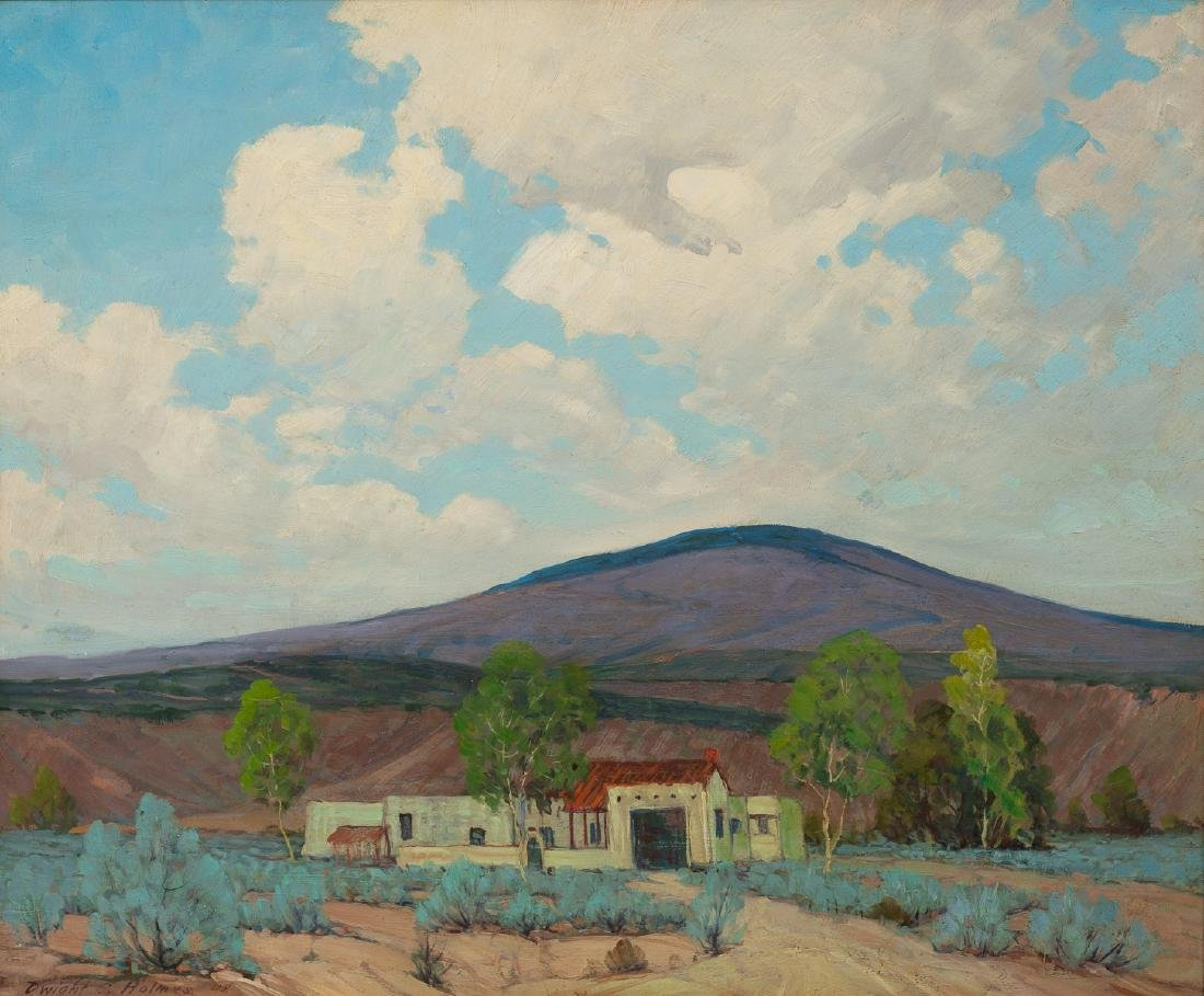 Dwight Clay Holmes (1900-1986), Mexico, 1948, oil/board
