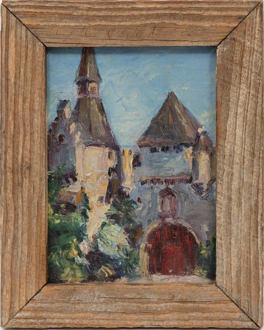 Buck Winn (1905-1979), Old Church, 1928, oil on panel, - 2