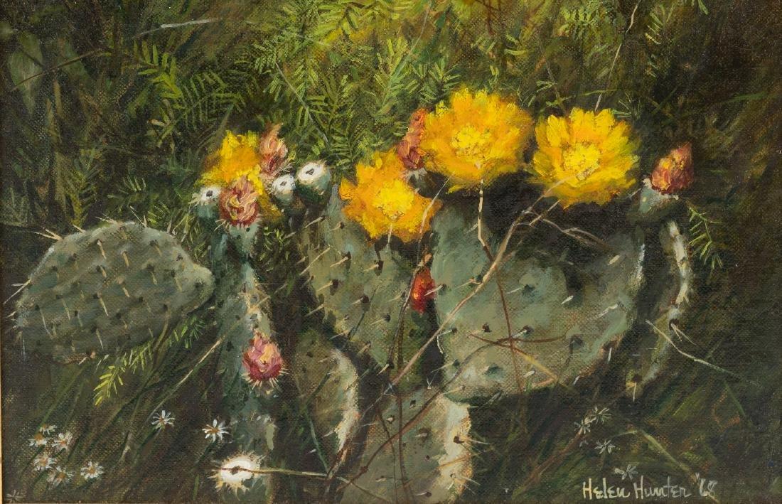 "Helen Hunter (1920-2003), ""Mesquite Shaded Cactus"","