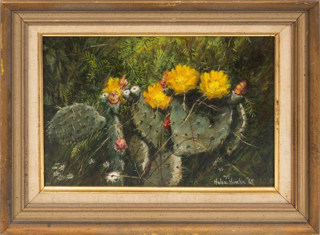 "Helen Hunter (1920-2003), ""Mesquite Shaded Cactus"", - 2"
