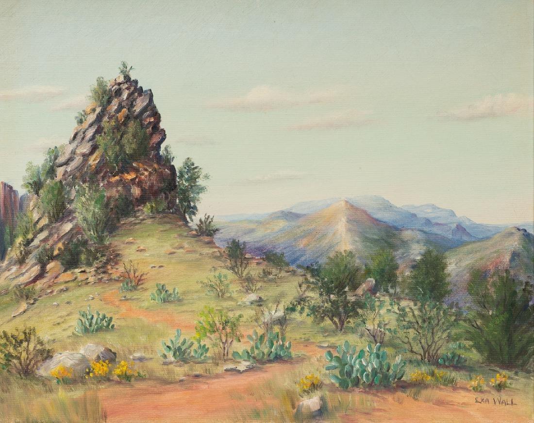 """Exa Wall (1897-1972), Cactus, oil on canvas, 20 x 25"""""""