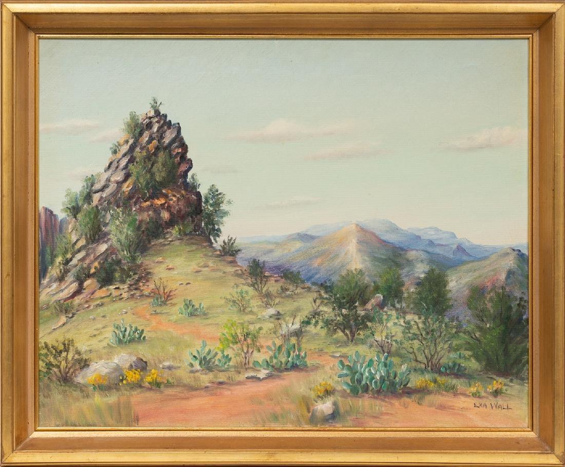 """Exa Wall (1897-1972), Cactus, oil on canvas, 20 x 25"""" - 2"""